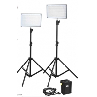 LS-LED 2x600 photo/video lamp + controle unit + Bi-Color
