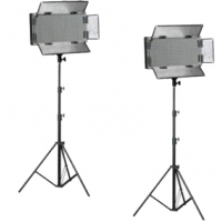 Bresser LED Foto-Video Set 2x LG-900 54W +  2x Statief
