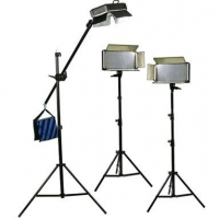 Bresser LED Foto-Video SET 3x LG-900 54W/8.860LUX + 2x Statief + 1x Boomstatief